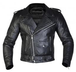 Motocyklowa Kurtka Skórzana Ozone Ramones Black