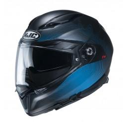 KASK HJC F70 SAMOS BLACK/BLUE