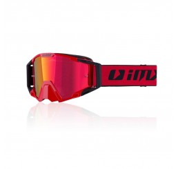 GOGLE IMX RACING SAND RED/BLACK MATT Z SZYBĄ RED IRIDIUM + CLEAR (2 SZYBY W ZESTAWIE)