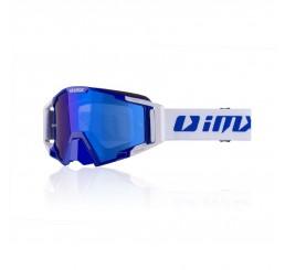 GOGLE IMX RACING SAND BLUE/WHITE Z SZYBĄ BLUE IRIDIUM + CLEAR (2 SZYBY W ZESTAWIE)