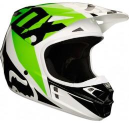 KASK FOX V-1 RACE WHITE/BLACK/GREEN